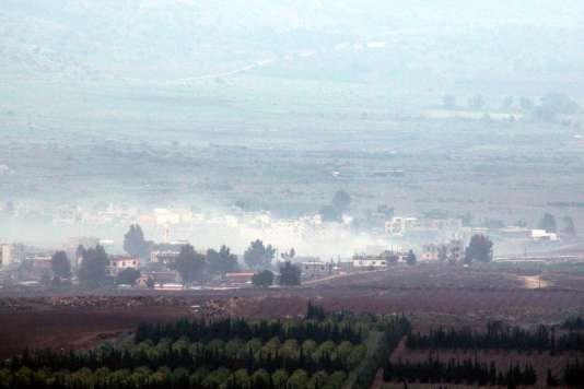 Un des villages libanais bombardé par l'armée israélienne, le 4 janvier.