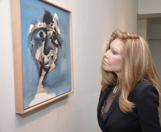 Jocelyn Wildenstein assiste à une exposition de Jean-Yves Klein en octobre 2015 à New York.