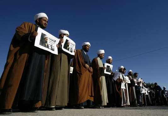Manifestation de chiites contre l'Arabie Saoudite à Najaf, en Irak, le 4janvier 2016.