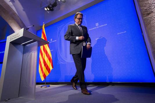 Artur Mas, président sortant du gouvernement catalan, le 24 novembre 2015, à Barcelone.