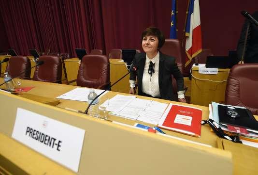 La nouvelle présidente de la région  Languedoc-Roussillon-Midi-Pyrénées Carole Delga, lundi 4 janvier à Toulouse.