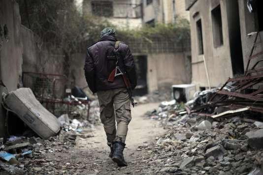 Un combattant de Jaish Al-Islam, à Jobar, le 4 janvier 2016.