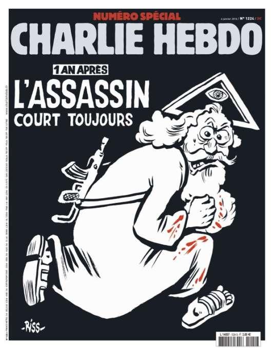 """La """"une"""" du numéro anniversaire de """"Charlie Hebdo""""."""
