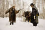 "Kurt Russell et Samuel L. Jackson dans le film américain de Quentin Tarantino, ""Les 8 Salopards"" (""The Hateful Eight"")."