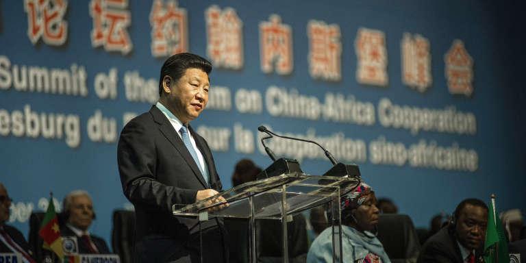 Le président chinois Xi Jinping lors du dernier sommet Chine - Afrique, à Johannesburg, le 4 décembre 2015.