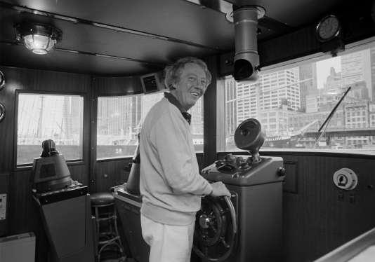 Le producteur australien Robert Stigwood, à Manhattan, en septembre 1979.