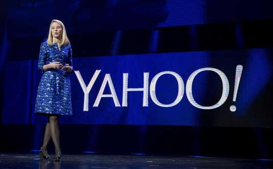 La PDG de Yahoo!, Marissa Mayer, le 5 janvier 2016 à Las Vegas (Nevada).