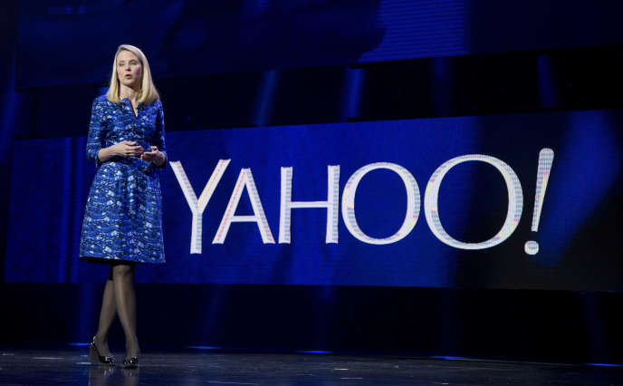 Marissa Mayer, la PDG de Yahoo!, lors d'une conférence en 2014.