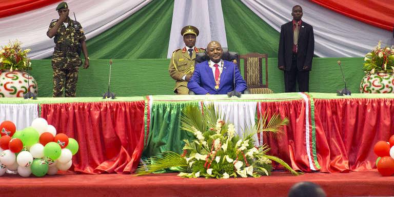 Le président Pierre Nkurunziza au Palais des Congrès de Bujumbura le 20 août 2015.