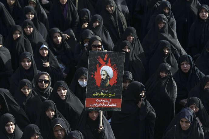 L'exécution par Riyad du cheikh Al-Nimr est à l'origine de la crise entre l'Iran et l'Arabie saoudite. Ici lors d'une manifestation à Téhéran le 4 janvier 2016.