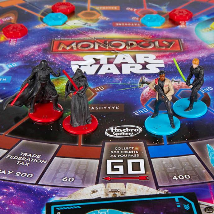 Les figurines jouables du Monopoly Star Wars.