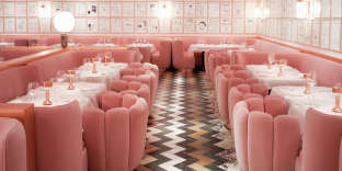 La brasserie The Gallery du Sketch (Londres), décorée par India Mahdavi.