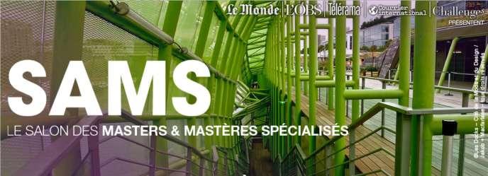 Affiche du 11e Salon des masters et mastères spécialisés.