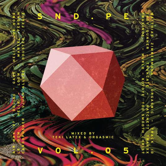 Pochette de l'album « Vol. 5 Mixed by Teki Latex & Orgasmic » par vingt producteurs réunis pour SND.PE.