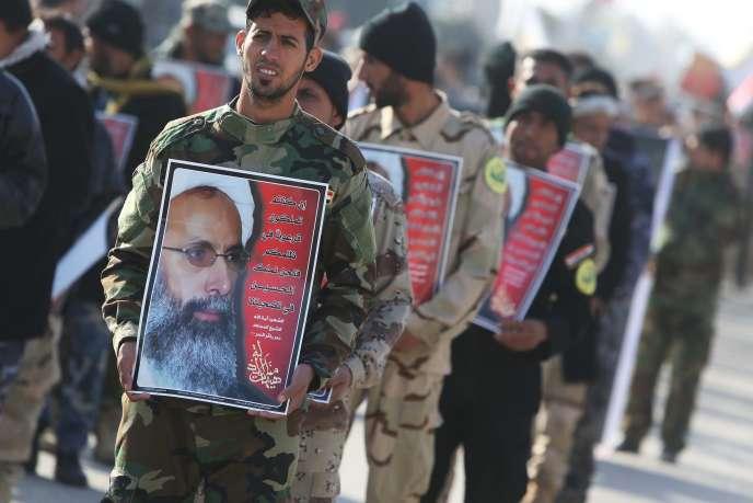 Manifestation dans la ville irakienne de Karbala, le 6 janvier.