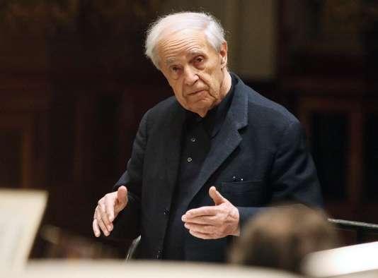 Le compositeur Pierre Boulez à Vienne, le 16 mars 2010.