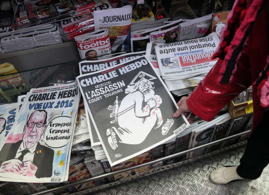 Un millier d'exemplaires en français du journal satirique se vendaient chaque semaine en Allemagne.