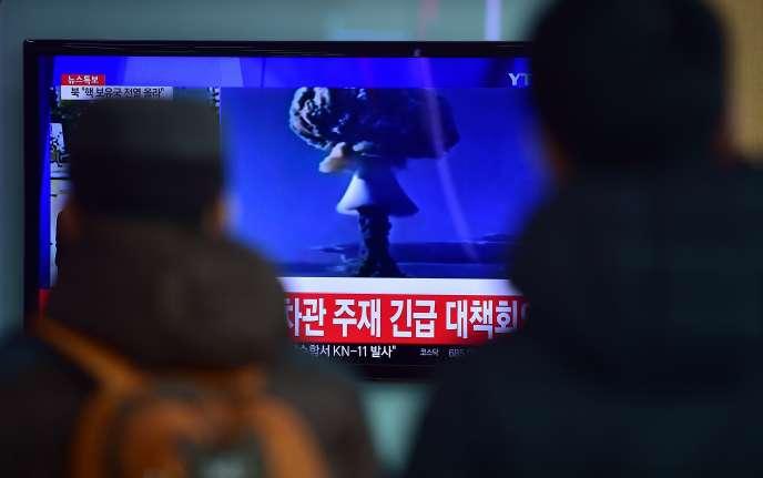 Reportage de la télévision sud-coréenne sur l'essai nucléaire effectué par Pyongyang le 6 janvier.