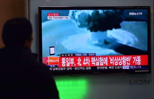 La Corée du Nord a affirmé avoir procédé à un essai de bombe à hydrogène, le 6 janvier.