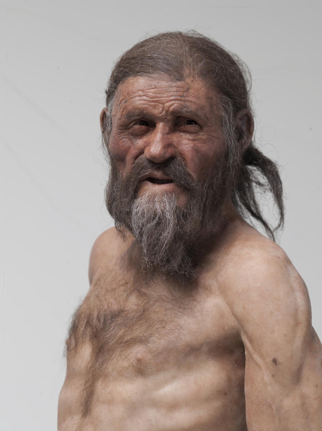 Reconstitution d'Ötzi par Adrie et Alfons Kennis.