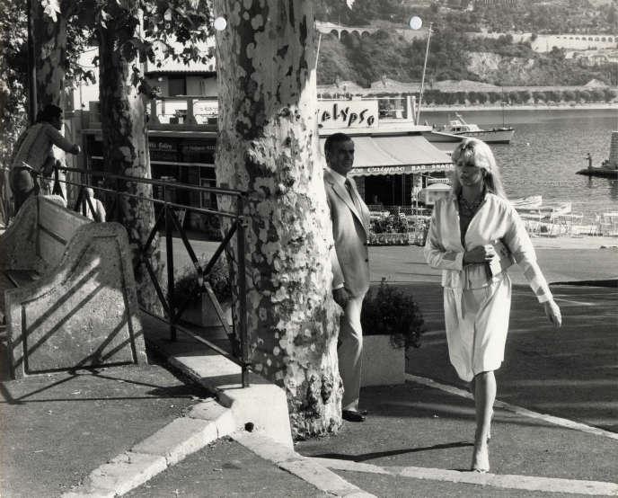 Kim Basinger et Sean Connery, lors du tournage de Jamais plus Jamais (1983), à Villefranche-sur-Mer