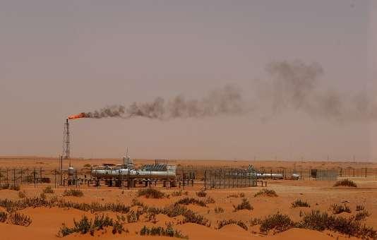 «Pump 3», une installation de la compagnie pétrolière Aramco dans la région de Khouris, à 160 km à l'est de Riyad, la capitale de l'Arabie saoudite.