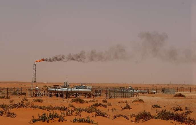 Installation pétrolière de Saudi Aramco, en 2008, à Khouris, en Arabie saoudite.