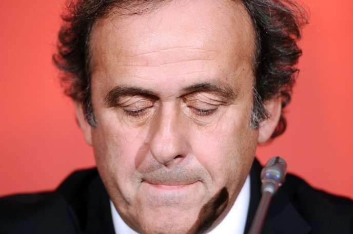 Michel Platini, le 23 octobre 2012 à Paris.