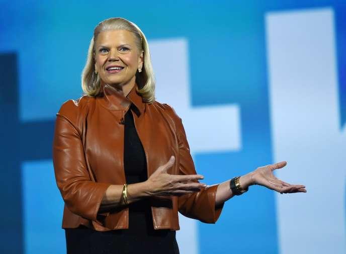 La PDG d'IBM, Virginia Rometty, à Las Vegas pour le CES, le 6 janvier 2016.