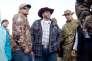 Ammon Bundy, leader du groupe armé anti-gouvernement, pendant une conférence de presse dans un refuge ornithologique de l'Oregon (Etats-Unis), lundi 4 janvier 2016.