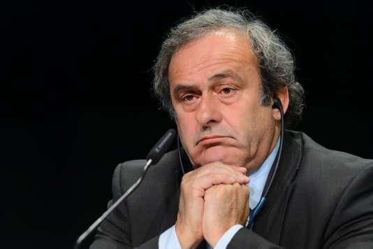 Michel Platini au siège de l'UEFA en 2015.