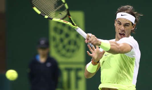 Rafael Nadal à Doha le 6 janvier.