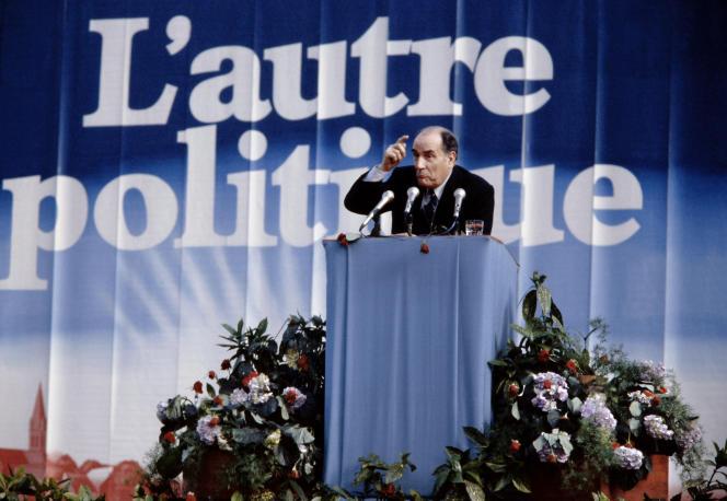 François Mitterrand, alors candidat socialiste à l'élection présidentielle, le 13 avril 1981.