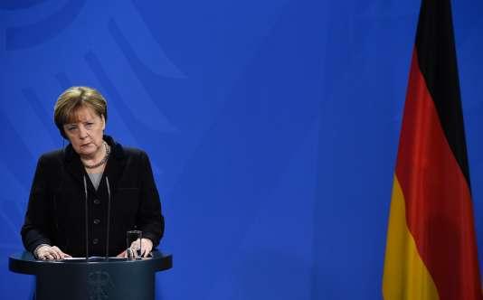 La chancelière allemande Angela Merkel, le 7 janvier 2016, à Berlin.