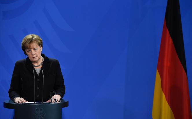 Angela Merkel, le 7 janvier à Berlin.