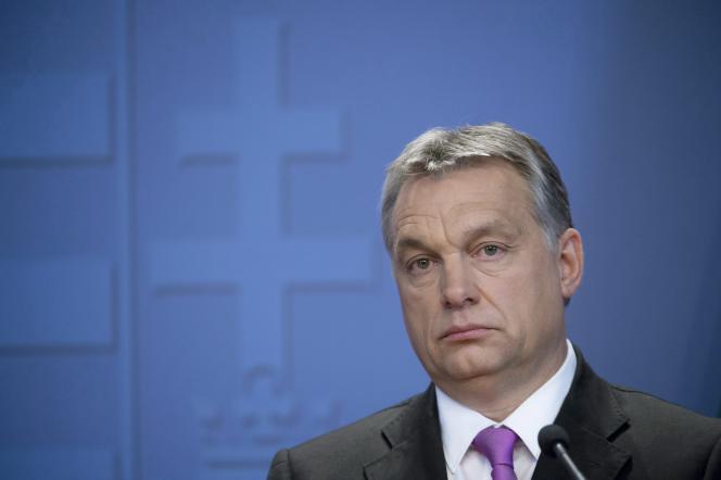 Le premier ministre hongrois, Viktor Orban, lors d'une conférence de presse, le 7 janvier 2016, à Budapest.
