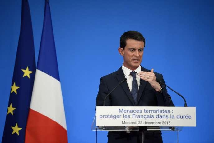 Manuel Valls, le 23 décembre 2015.