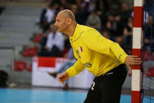 Le gardien du Qatar, de nationalité bosnienne, Danijel Saric, le 7 janvier 2016, à Rouen.
