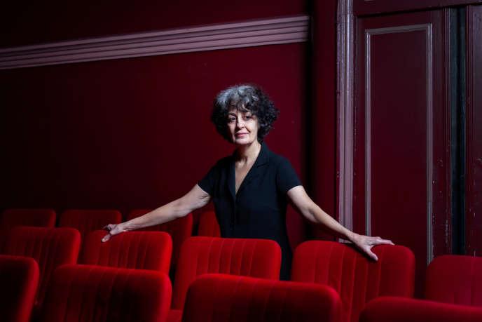 Dominique Valadié au Théâtre de l'Œuvre, à Paris.