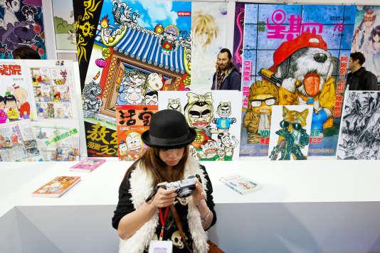 A la 39ème édition du festival de BD d'Angoulême, en janvier 2012.