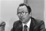 Roland Peugeot, le 31août1978, alors président du conseil de surveillance de PSA Peugeot Citroën.