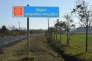 Un panneau d'entrée en région Languedoc-Roussillon en novembre 2015.