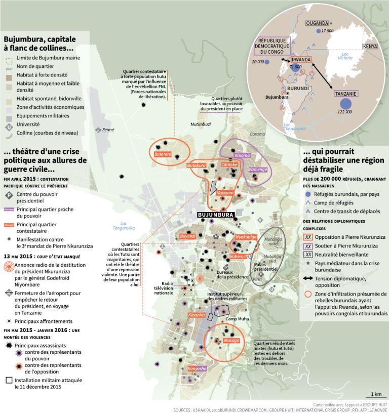 Bujumbura : les quartiers de la colère