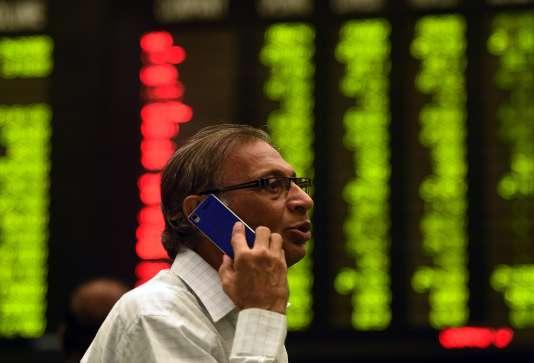 A la bourse de Karachi, le 8 janvier.