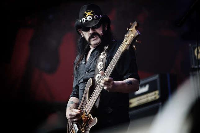 Lemmy Kilmister du groupe Motorhead au Roskilde Festival au Danemark en juillet 2010.