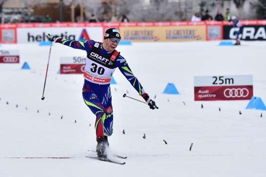 Maurice Manificat a remporté samedi le 15 km libre lors de la Coupe du monde de Nove Mesto samedi.