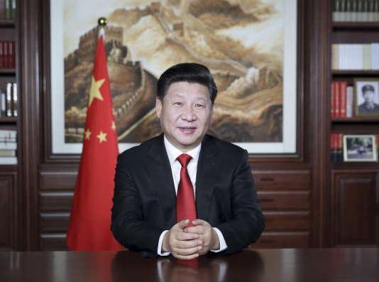 Xi Jinping lors de son allocution du nouvel an à Pékin le 31 décembre 2015.