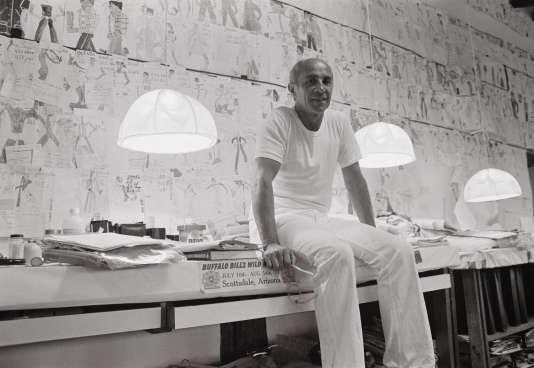 André Courrèges en juillet 1978, à Saint-Jean-de-Luz (Pyrénées-Atlantiques).