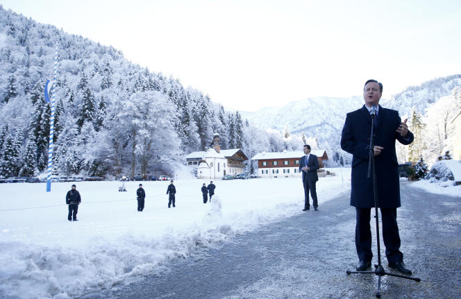 David Cameron à Wildbad Kreuth près de Munich, le 7 janvier.
