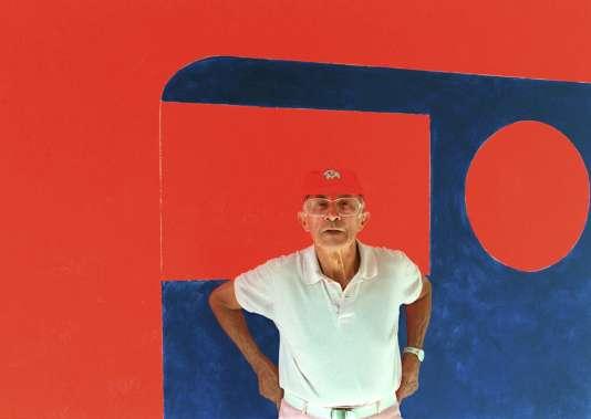 André Courrèges; le 2 octobre 1997, à Paris.